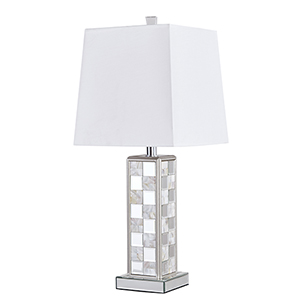 Sparkle Mirrored 28-Inch One-Light Checkerboard Table Lamp