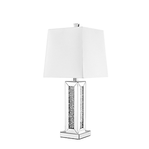 Sparkle Mirrored 28-Inch One-Light Tall Table Lamp