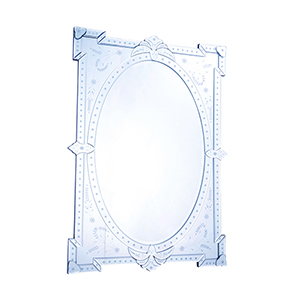 Venetian Glass 29-Inch Mirror
