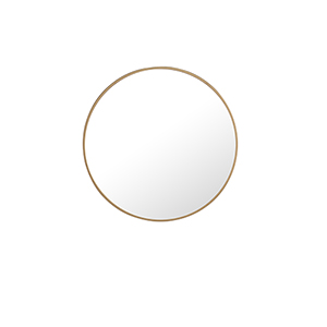 Eternity Brass Round 24-Inch Mirror