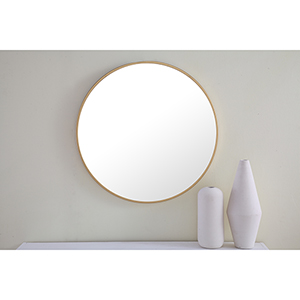 Eternity Brushed Brass Round 24-Inch Mirror