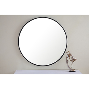 Eternity Black Round 32-Inch Mirror