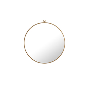 Eternity Brass Round 24-Inch Mirror with Hook