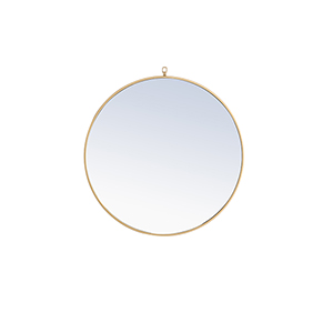 Eternity Brass Round 32-Inch Mirror with Hook