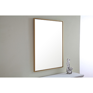 Eternity Brass 32-Inch Mirror