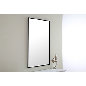 Eternity Black 24-Inch Mirror