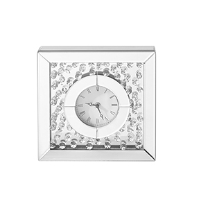 Sparkle Crystal 10-Inch Square Table clock