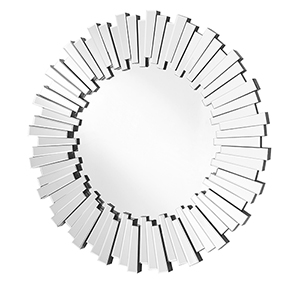 Sparkle Glass 39-Inch Round Mirror