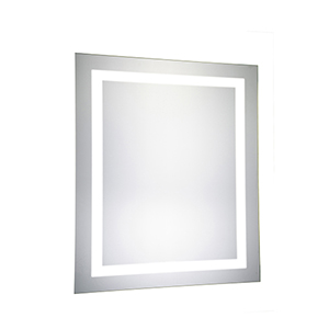 Nova Glossy Frosted White 30-Inch Rectangle LED Mirror 5000K