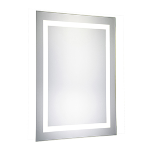 Nova Glossy Frosted White 40-Inch Rectangle LED Mirror 5000K