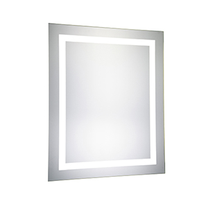 Nova Glossy Frosted White 30-Inch LED Mirror 5000K