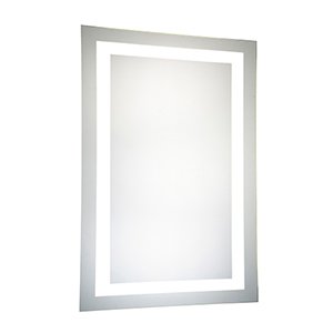 Nova Glossy Frosted White 40-Inch LED Mirror 5000K