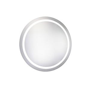 Nova Glossy Frosted White 30-Inch Round LED Mirror 5000K