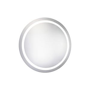 Nova Glossy Frosted White 36-Inch Round LED Mirror 5000K