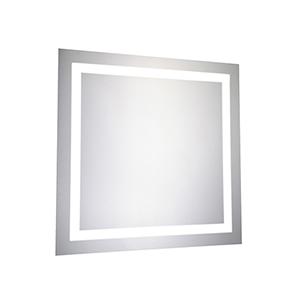 Nova Glossy Frosted White 28-Inch LED Mirror 5000K
