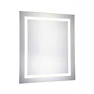 Nova Glossy Frosted White 32-Inch LED Mirror 5000K