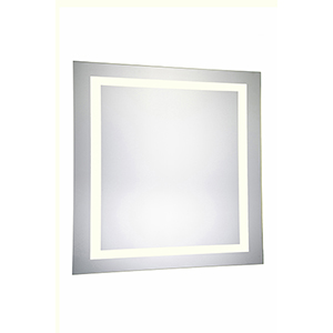 Nova Glossy Frosted White 36-Inch Four-Side LED Mirror 3000K