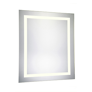 Nova Glossy Frosted White 32-Inch LED Mirror 3000K
