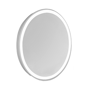 Nova Glossy Frosted White 28-Inch Four-Side LED Oval Mirror 5000K