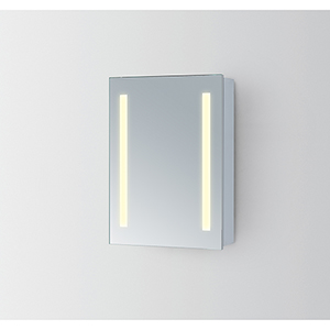 Elixir Silver Powder Coating 39-Inch LED Mirror 3000K