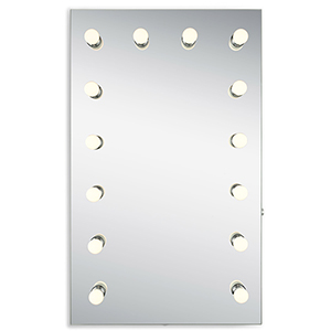 Hollywood Silver Anodized 39-Inch LED Mirror 3000K
