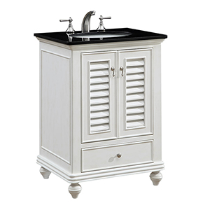 Northport Antique Frosted White Vanity Washstand