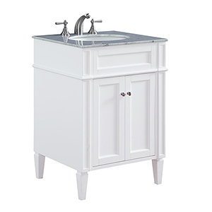 Park Ave Frosted White Vanity Washstand