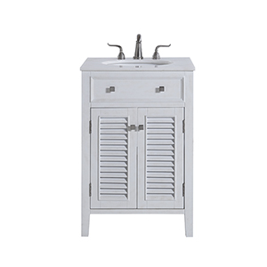 Cape Cod Antique Frosted White Vanity Washstand