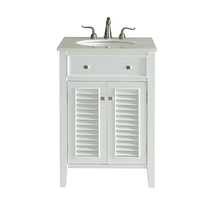 Cape Cod Frosted White Vanity Washstand