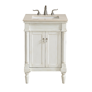 Lexington Antique Frosted White Vanity Washstand