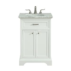 Americana Frosted White Vanity Washstand