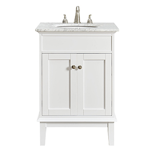Sutton Frosted White Vanity Washstand