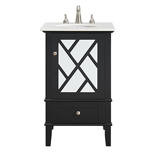 Luxe Black Vanity Washstand