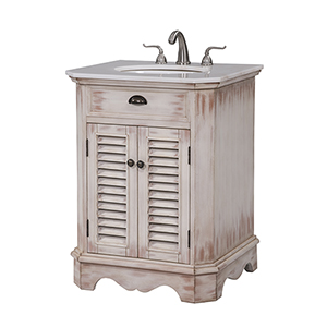 Milford Frosted White Wash Vanity Washstand