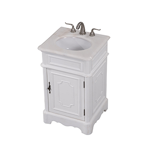 Retro Antique Frosted White Vanity Washstand
