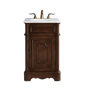 Retro Teak Vanity Washstand