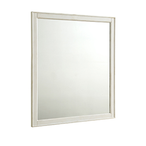 Lexington Antique Frosted White 32-Inch Mirror