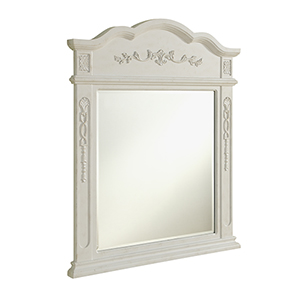 Danville Antique Frosted White Mirror