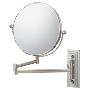 Mirror Image Brushed Nickel Classic Double Arm Wall Mirror