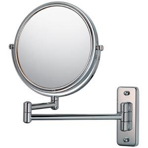 Mirror Image Chrome Double Arm Wall Mirror