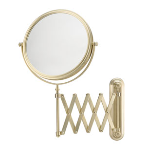 Mirror Image Brushed Brass Extension Arm Wall Mirror