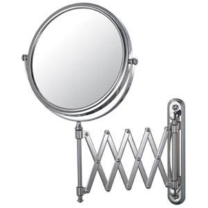 Mirror Image Chrome Extension Arm Wall Mirror