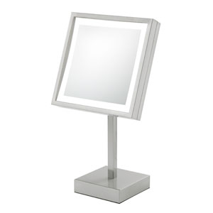 Single-Sided LED Square Freestanding Mirror - Plug In