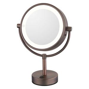Neomodern Warm LED Lighted Freestanding Mirror