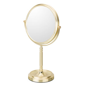 Recessed Base Free Standing Mirror 5X/1X Magnification