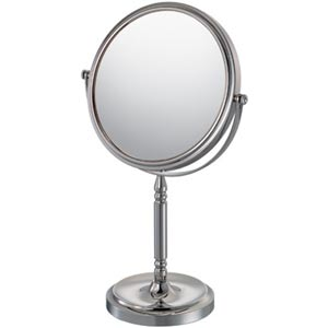 Mirror Image Chrome Recessed Base Vanity Mirror