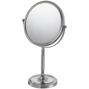 Mirror Image Brushed Nickel Recessed Base Vanity Mirror