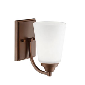 Rubbed Bronze One-Light Bath Sconce