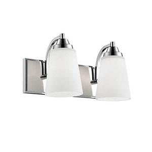 Chrome Two-Light Vanity