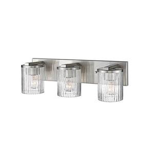 Satin Nickel Three-Light Vanity